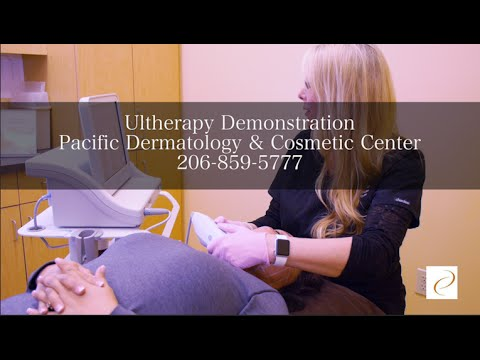 Ultherapy Demo to Tighten & Lift Lower Face & Neck, Seattle & Renton WA