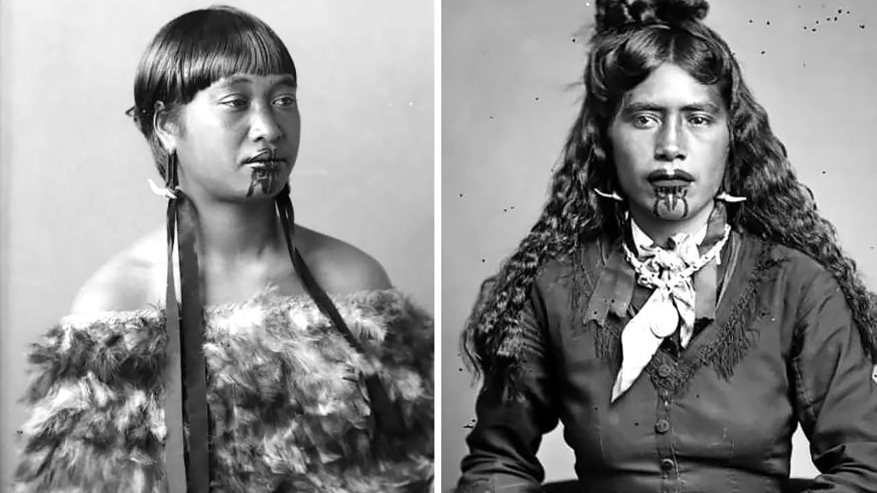 Maori Tattoo Culture: Vintage Photos Of Maori Women With Tattoos On Their Faces