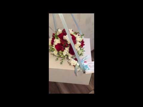 Красно-Белый свадебный букет невесты Киев by Floridance floristic studio