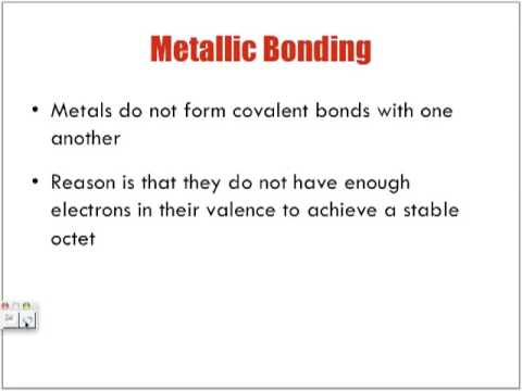 Metallic Bonding Lecture - YouTube