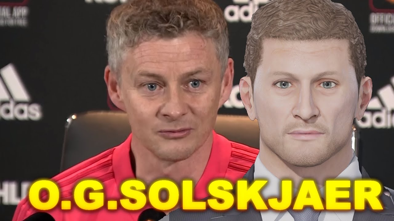 PES 2019 | How to create O G  Solskjaer's face (Xbox One, PS4, PC)