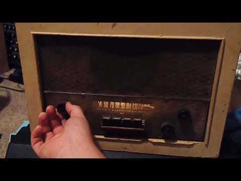 Silvertone Tube AM Radio Repair