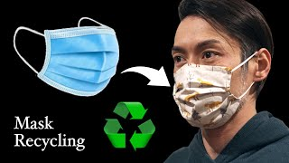 Disposable Mask Recycling Sewing Tutorial DIY Mask At Home