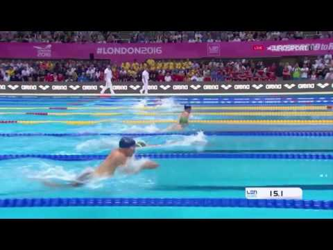 Adam Peaty Wins Men's 100m Breaststroke Final LEN European Swimming Championships London 2016
