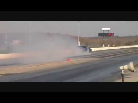 Driver Looses Control of Twin Turbo Challenger whilst Showing off!