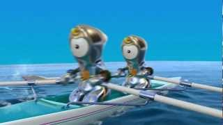Wenlock tries the Olympic sports - London 2012