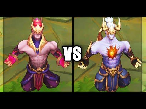 Nightbringer Lee Sin vs Prestige Nightbringer Lee Sin Skins Comparison (League of Legends)