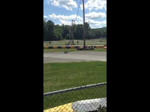 Motor race at Oakland Valley Race track August 7, 2016