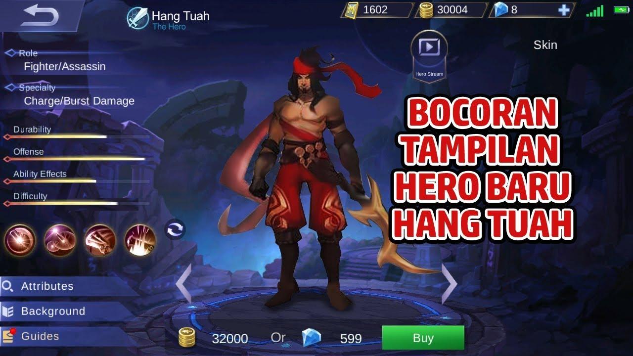 BOCORAN TAMPILAN HERO BARU MOBILE LEGENDS HANG TUAH DARI