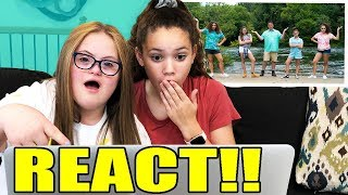 "Sarah & Sierra REACT to ""Call It A Day"" by Haschak Sisters"