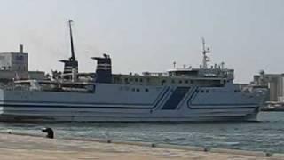 博多-壱岐-対馬間フェリー「ニューつしま」博多埠頭到着 Ferry ship 'New Tsushima'@Hakata port.
