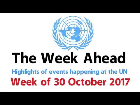 The Week Ahead - starting 30 October 2017