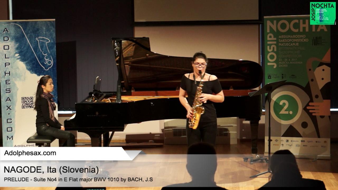 Johann Sebastian Bach   Suite No 4 in E  at major BWV 1010 Pre?lude  – NAGODE, Ita Slovenia