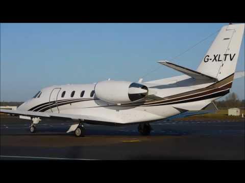 Cessna Citation 560XLS G-XLTV Start Up & Departure At Viscount House 02/01/2017