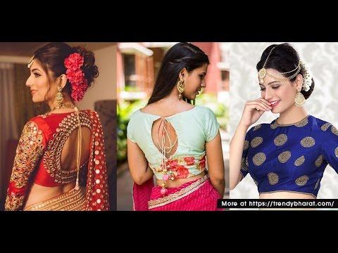 da3c80ec218ce9 Latest Silk saree blouse designs - YouTube