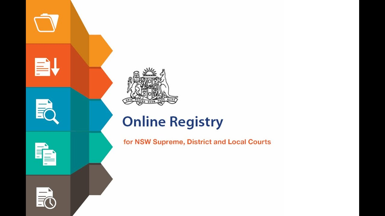Nsw online registry how to register a certificate of judgment or nsw online registry how to register a certificate of judgment or order in the nsw courts youtube aiddatafo Choice Image