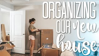 First Day in New Home | unpacking & organizing our house