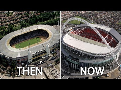 10 English Stadiums Then & Now | Ft. Wembley, Old Trafford, Anfield...
