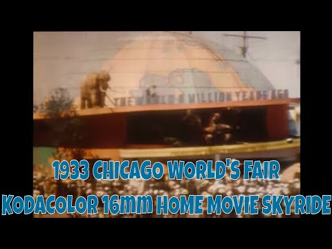 1933 CHICAGO WORLD'S FAIR KODACOLOR 16mm HOME MOVIE SKYRIDE 3321