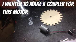 Simple homemade motor coupler made from a bolt