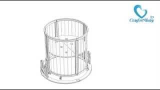 Круглая кроватка с маятником на все детство с 0 до 9 лет ComfortBaby(, 2015-04-06T20:03:22.000Z)