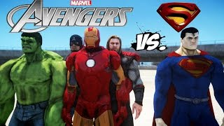 THE AVENGERS VS SUPERMAN - IRON MAN, HULK, THOR, CAPTAIN AMERICA VS MAN OF STEEL