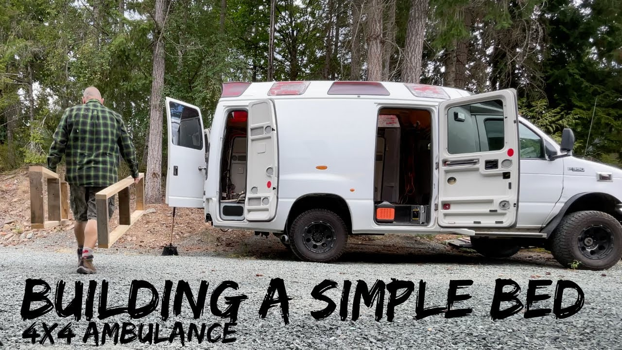 EASY TO BUILD BED FRAME | Moving Into The Ambulance For a Few Nights