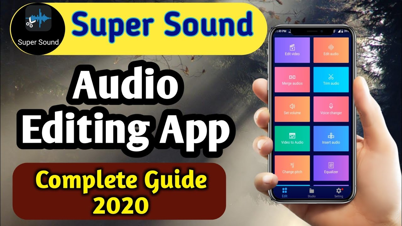 Best Audio Editing App 2020 Super Sound Audio Editor App Audio Editor App For Android Hindi Youtube