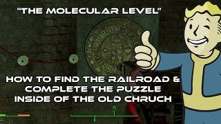 "Fallout 4: ""The Molecular Level"" Quest - How To Find The Railroad & Complete The Puzzle"