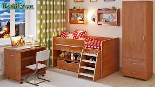 видео Кровать-чердак для детей - купить в Интернет магазине в Москве.