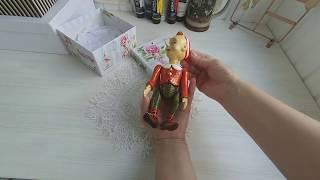 Кукла вашего детства. Обзор авторская шарнирная кукла Буратино