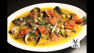 【アクアパッツァ】材料入れて水で煮込むだけ!簡単美味しい!いさきのアクアパッツァ【イタリアン】