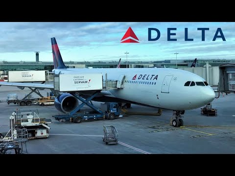 Delta Airlines A330-300 Paris CDG to New York JFK (USA)