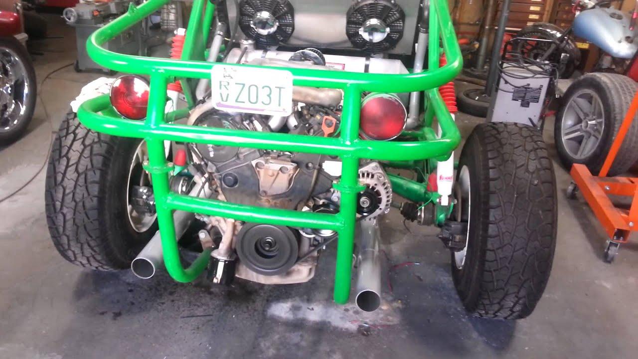 Honda engine in sand rail - YouTube