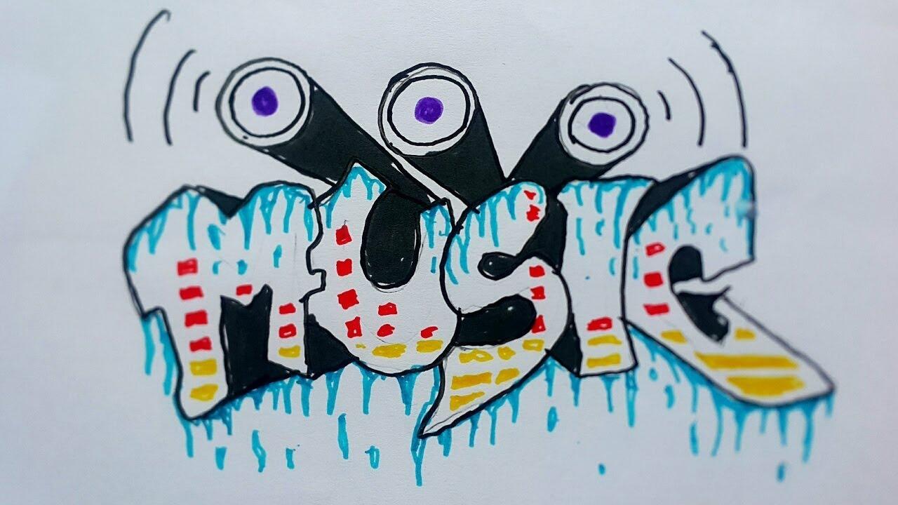 Make graffiti music on paper