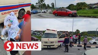 Babies unscathed, mums slightly hurt in car-ambulance crash