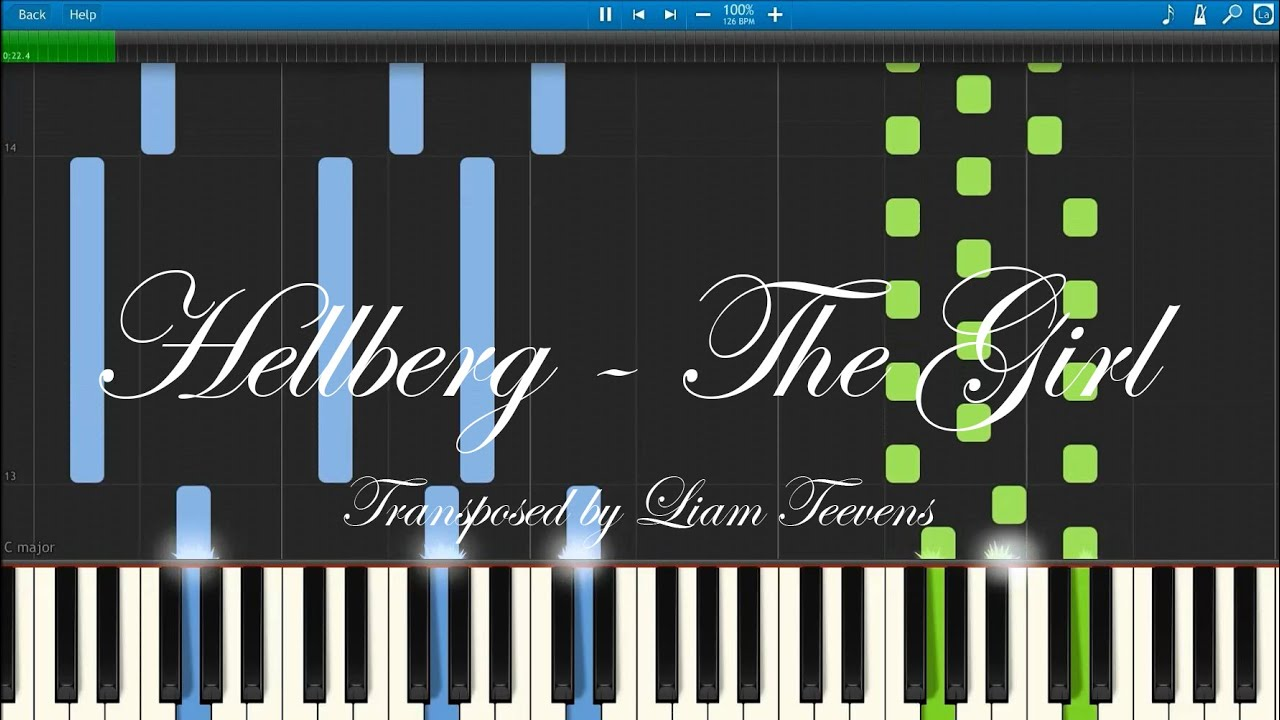 Hellberg - The Girl (Synthesia)[MIDI + Piano Sheet Download]