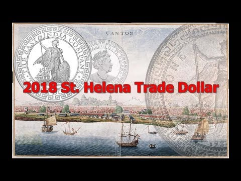 2018 St. Helena  British Trade Dollar - Restrike & Real Coin