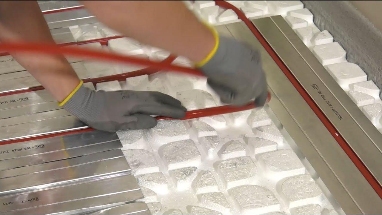 Montage Fussbodenheizung Roth Climacomfort Trockenbau System Youtube