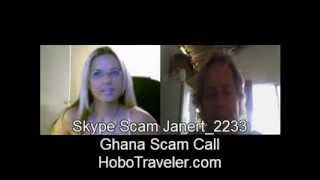 Skype Scam Call to USA Recorded on Video