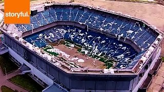 Drone Shows Detroit Silverdome In Ruins
