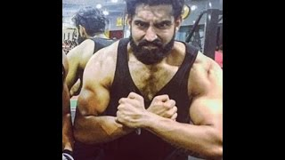 Parmish verma at gym body building || live