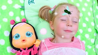 Download Nastya and Baby doll vs Pesky Flies! Аnd other Funny Stories by Like Nastya Mp3 and Videos