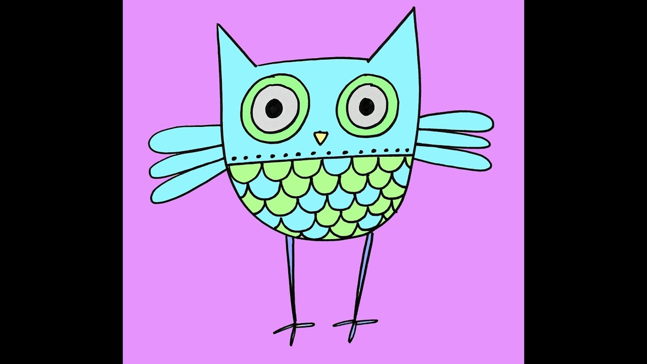 Uncategorized Owl Drawing Easy how to draw a hoot owl easy drawing tutorial for children by doodleacademy youtube