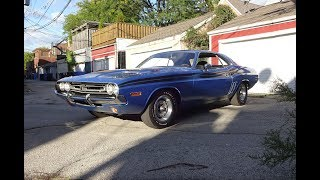 1971 Dodge Challenger R/T RT in B5 Blue & 426 Hemi Engine Sound on My Car Story with Lou Costabile