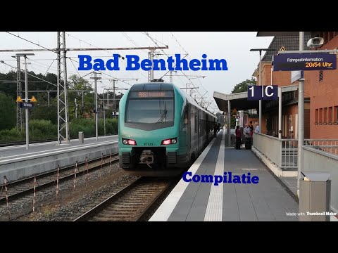 Treinen op station Bad Bentheim