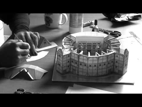 Globe Theatre model construction & burning