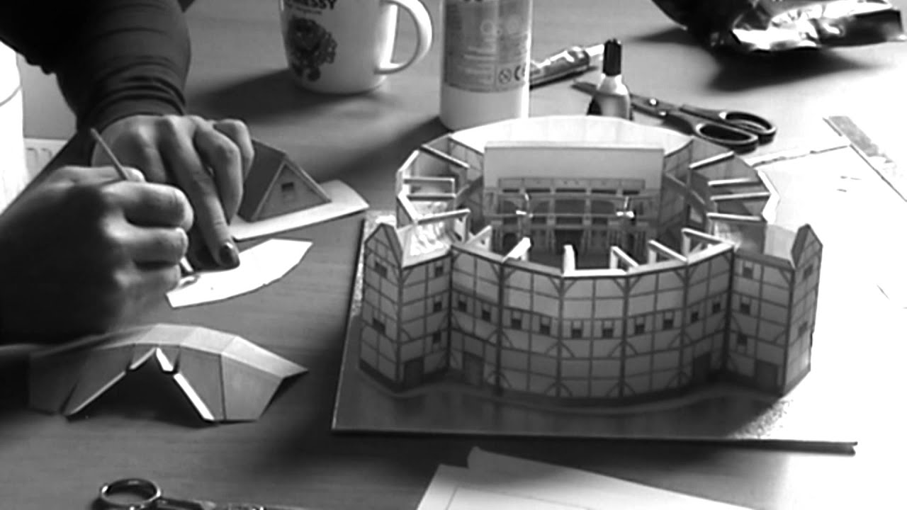 Globe Theatre Model Construction Burning