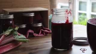 How To Can - Recipe For Rhubarb Berry Jam