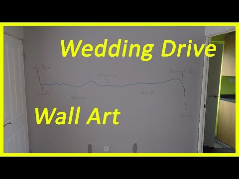Wall Wall Painting – Our Wedding Drive Map Thingy